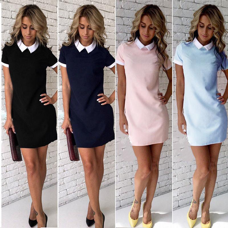 женские короткие платья
